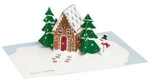 Gingerbread Cabin Pop-Up Card