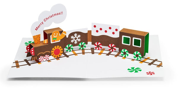 Gingerbread Train Pop-Up Card