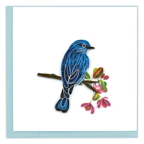 Mountain Bluebird Quilling Card