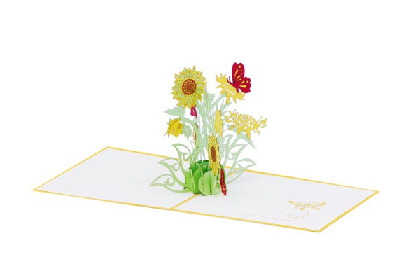 Bunch of Sunflowers Pop-Up Card