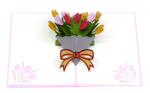 Tulip Bouquet Pop-Up Card