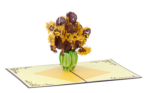 Van Gogh Sunflowers Pop-Up Card
