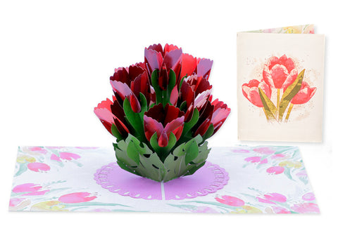 Spring Tulips Pop-Up Card