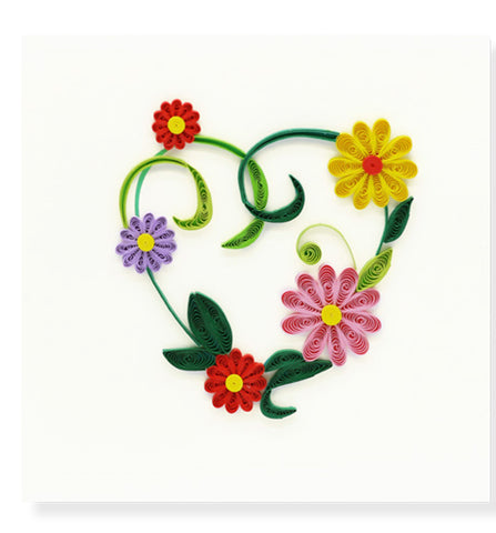 Floral Heart Quilled Card