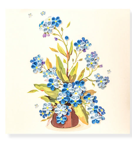 Forget-me-not Flowers Quilled Card