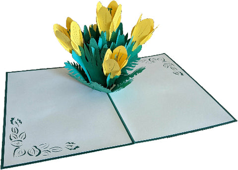 Yellow Lilies Pop-Up Card