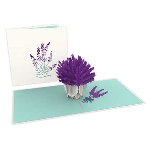 Lavender Pop-Up Card