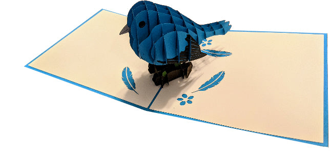 Blue Bird Pop-Up Card