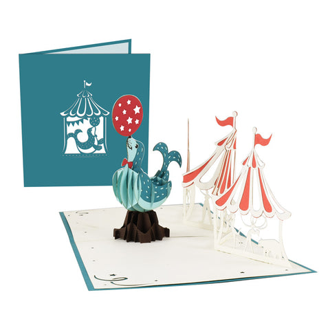 Circus Seal Pop-Up Card