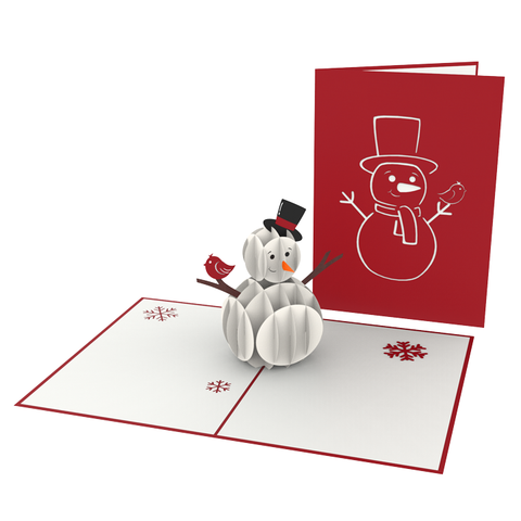 Jolly Snowman Pop-Up Card