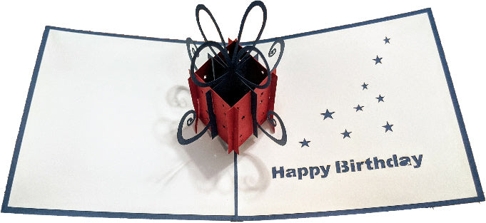 Birthday Present Pop-Up Card