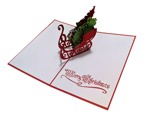 Christmas Sleigh Pop-Up Card