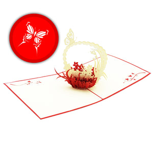 Butterfly Basket Pop-Up Card