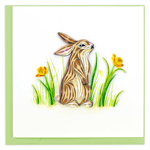 Rabbit Quilling Card