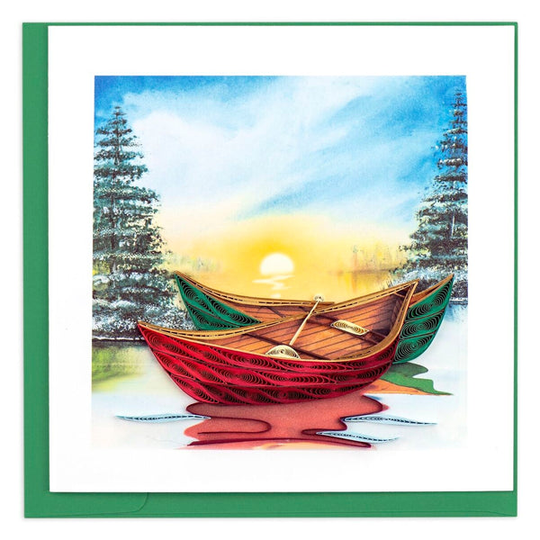 River Canoes Quilling Card