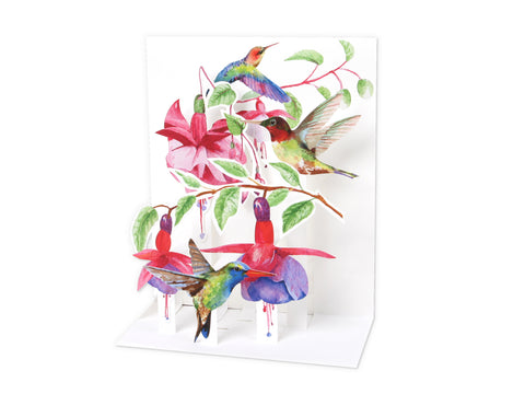 Musical Pop-Up Card - Hummingbirds