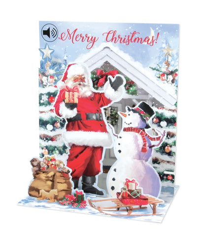 Musical Pop-Up Card - Santa and Snowman