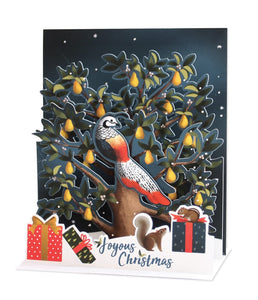 Musical Pop-Up Card - Partridge in a Pear Tree