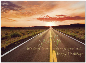 Scenic Road Birthday Card