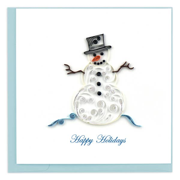 Snowman Happy Holidays Quilling Card