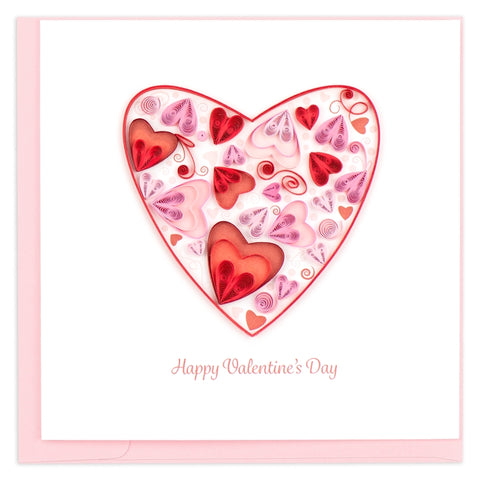 Valentine's Day Heart Quilling Card