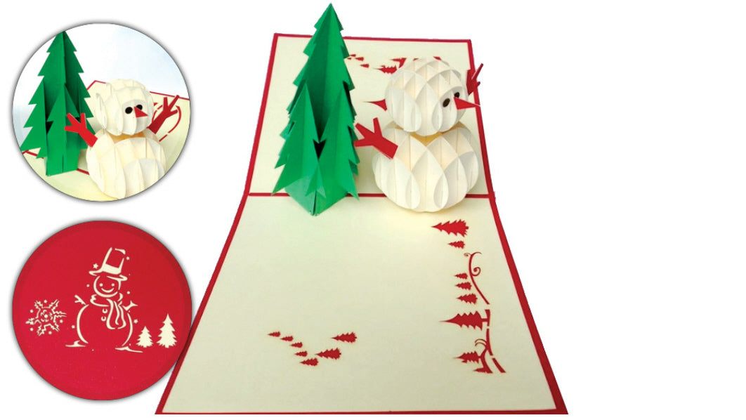 Snowman and Tree Pop-Up Card