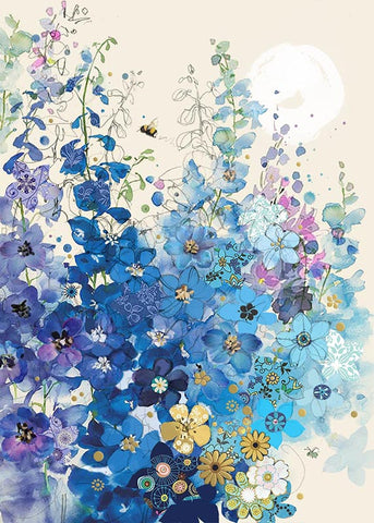 Delphiniums Note Card