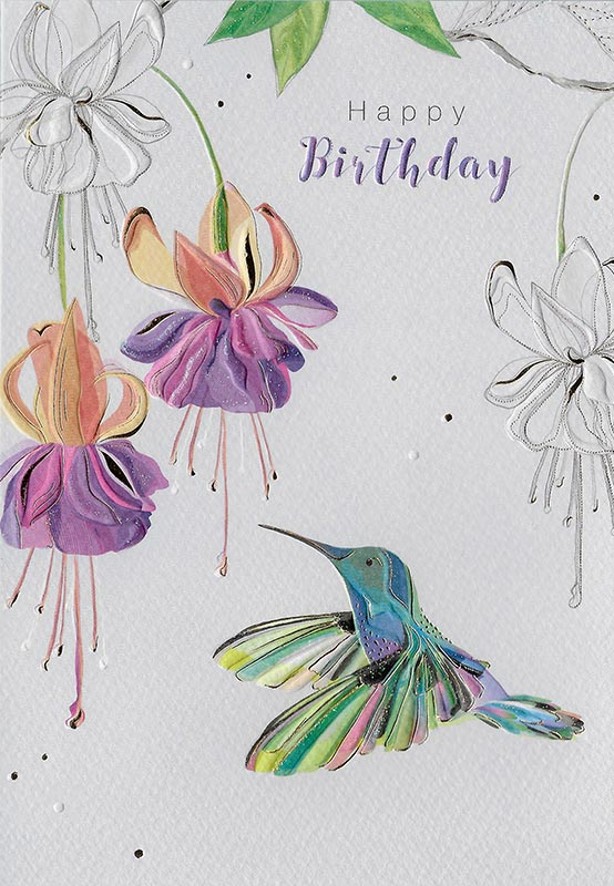 Hummingbird Happy Birthday Card