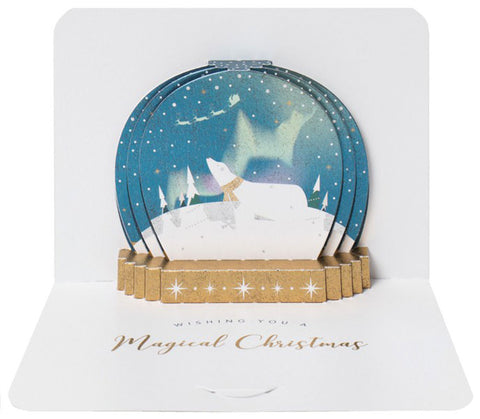 Polar Bear Snowglobe Pop-Up Card