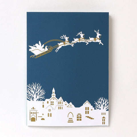 Santa Sleigh Pop-Up Card