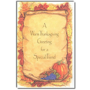 Friend Thanksgiving Card