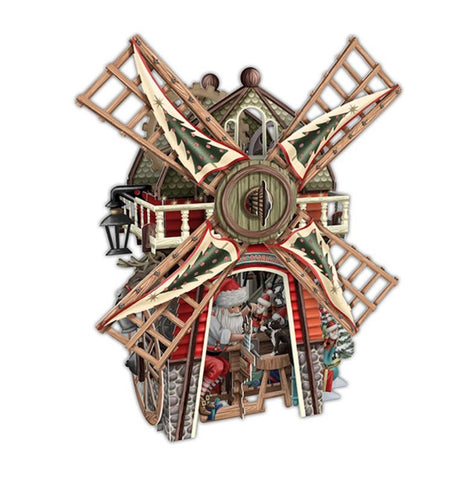3D Santa's Windmill Pop-Up Card