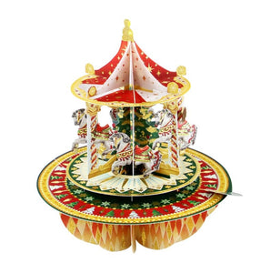 3D Christmas Tree Carousel Pop-Up Card