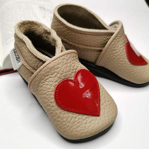 MB Apparels LLC 0-6 Months / Heart Baby Leather Shoes