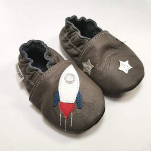 MB Apparels LLC 0-6 Months / Rocket on gray Rocket Baby Slippers