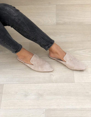 MB Apparels LLC 36 EU - 6 US EU women's / Gray Women's Leather Mulesmade from Suede Leather.
