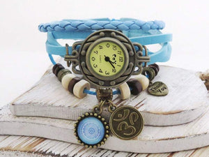 MB Apparels LLC Black Womens watch steampunk vintage leather bracelet