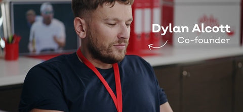 A screenshot of Dylan Alcott in Able Foods' introductory video.