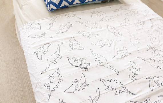 Brolly Sheets Waterproof Dinosaur Bed Pad With Wings