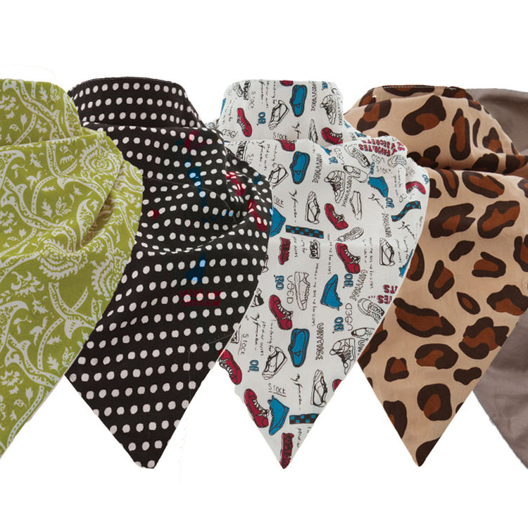 Waterproof and Absorbent Bandana bibs for Adults 10 Pack