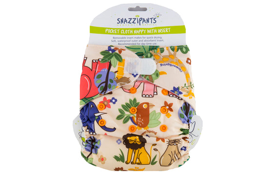 Reusable Daytime Cloth Nappy Star Front