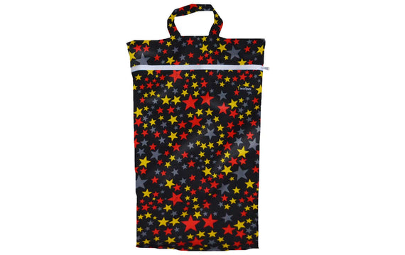 Snazzipants Waterproof Wet Bag Large Black Stars