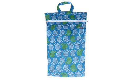 Blue White Sprial Large Wetbag