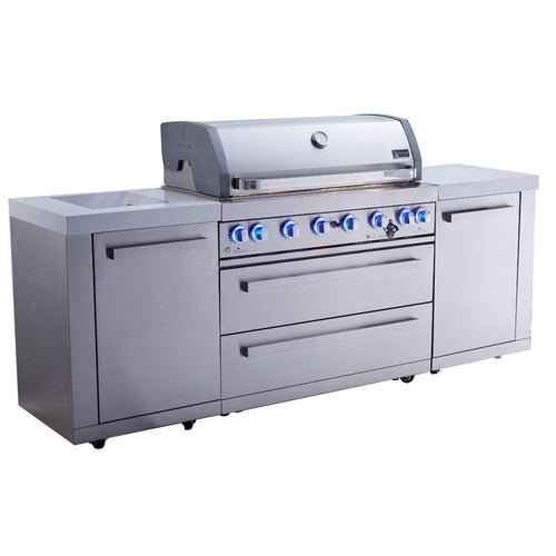 Mont Alpi 805 Propane/Gas Stainless Steel Island Grill - MAi805 - Bison Kitchens