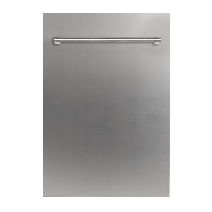 ZLINE 18 in. Top Control Dishwasher in Stainless Steel With Stainless Steel Tub & Modern Style Handle – (DW-304-H-18) - Bison Kitchens