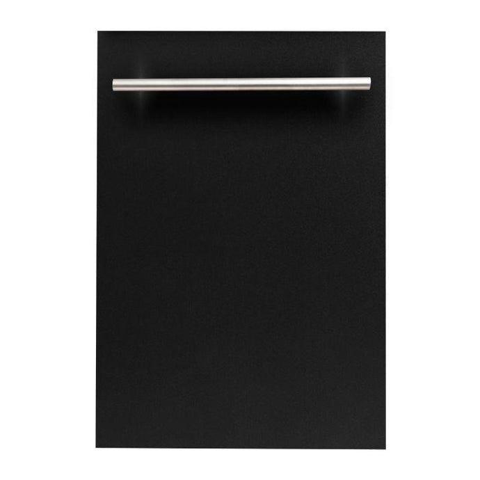 ZLINE 24 in. Top Control Dishwasher In Black Matte With Stainless Steel Tub And Modern Style Handle (DW-BLM-24) - Bison Kitchens