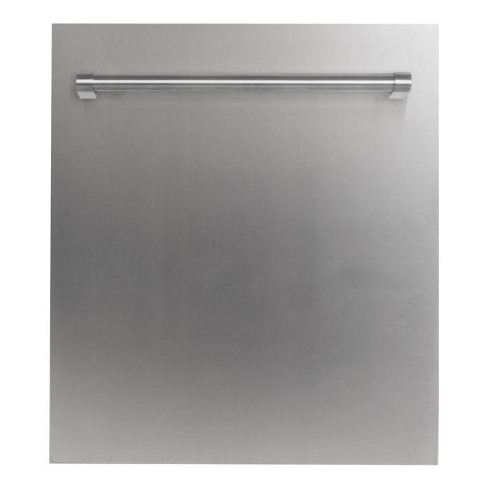 ZLINE 24 in. Top Control Dishwasher In Stainless Steel With Stainless Steel Tub And Traditional Style Handle - DW-304-H-24 - Bison Kitchens