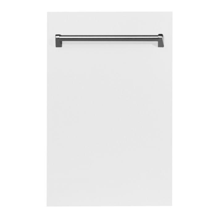 ZLINE 24 in. Top Control Dishwasher In White Matte With Stainless Steel Tub And Traditional Style Handle (DW-WM-24) - Bison Kitchens