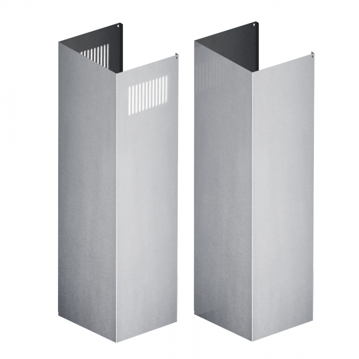 Extensions/Accessories - ZLINE 2 Piece Chimney Extensions For 12ft Ceiling - (2PCEXT-KB/KL2/KL3)