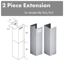 Load image into Gallery viewer, Extensions/Accessories - ZLINE 2 Piece Chimney Extensions For 12ft Ceiling - (2PCEXT-KB/KL2/KL3)